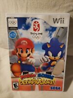 Mario & Sonic At The Olympic Games Beijing 2008 Nintendo Wii Tested No Manual