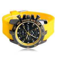 New Stainless Steel Case Luxury Sport Analog Quartz SBAO Men Fashion Wrist Watch