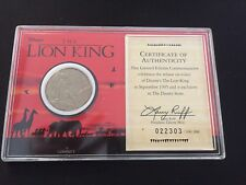 Disney The Lion King 1995 Disney Store Collectable Numbered Liberty Mint Coin