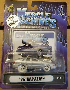 2004 Funline Muscle Machines '96 IMPALA 04-55 1:64 SILVER LIMITED 1496 PCS RARE