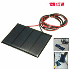 1.5W 12V Small Cell Battery Solar Panel  Module Epoxy Charger + Welding Wire