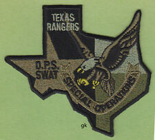 TEXAS RANGERS STATE SHAPE  DPS SWAT SPECIAL OP SUBDUED EAGLE PATCH