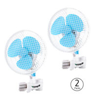 "VIVOSUN 2 Packs 6"" inch 2-Speed Clip On Oscillating Fan for Hydroponic Grow Tent"