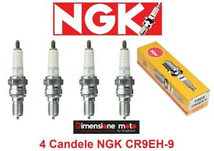 7502 - 4 Candele NGK CR9EH-9 per Honda CBR 250 RR dal 1990 al 2003