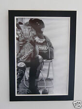 """High Quality A2 poster print - John McGuinness """"head in hands"""" - isle of man TT"""