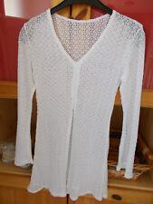 robe dentelle blanche à superposer taille 34