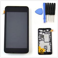 Neuf Noir Ecran Complet LCD + Tactile Vitre Assemble +Chassis Pr Nokia Lumia 530