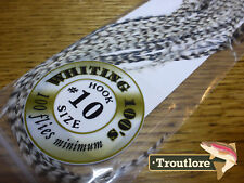 #10 GRIZZLY WHITING 100's PACK DRY FLY SADDLE HACKLE FEATHERS WHITING FARMS NEW