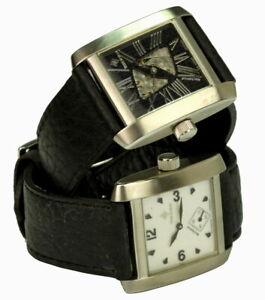 THEOREMA Herrenuhr Wendeuhr mit 2 Zifferblätter Handaufzug-Uhr