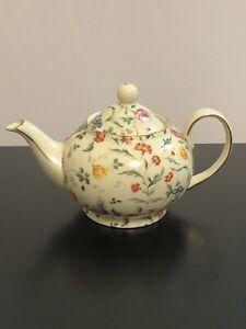 Rare Cream Floral Chintz Teapot