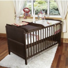 NEW Cot top wooden changer table universal walnut nursery nappy