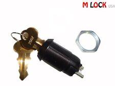 Lot Of 2 Electronic Key Switch Lock Black Offon Lock Switch Chicago Keyed Alike