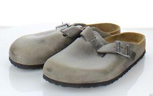 41-59 $145 Men's Sz 42 M Birkenstock Boston Oiled Leather Soft Footbed Clog