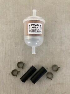 "Fram G2(FP) 5/16"" Plastic Inline Gas/Fuel Filter fits G12 GF61 33002 GF61PL 3002"