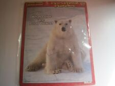 2 PUZZLE PATCH PRESCHOOL 5 PIECES AGES 1 TO 3 SPACE THEME AND POLAR BEAR