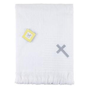 BeeBo Baby Boys Girls Ava White Christening Baptism Shawl Cross Embroidery Wrap