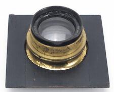 Bausch & Lomb Zeiss Protar 11 3/16 f/12.5 Series VII Brass Barrel Lens