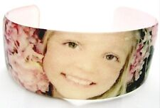 Resin cuff bangle bracelet custom photo keepsake gift customized ur emailed pic
