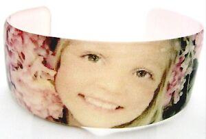 Resin cuff bangle bracelet custom photo keepsake gift customized ur emailed pic