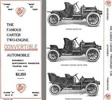 Carter 1907 - The Famous Carter Two-Engine Convertible Automobile Runabout, R
