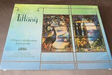 New & Sealed 1000 Piece Double-sided Jigsaw - Louis Comfort Tiffany Peacock
