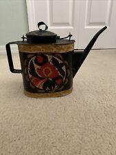 antique toleware coffee pot