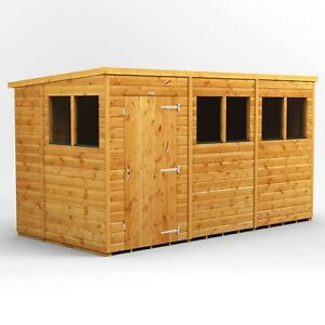 Power Pent Garden Shed | Power Sheds | Large Pent | Sizes 12x6 up to 20x6