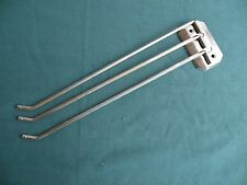 Vtg CHROME Three Triple TOWEL Bar Rod Arm Swinging Swivel Holder Kitchen Bath