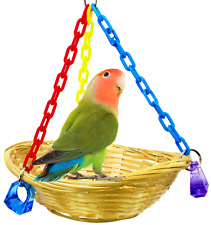 1914 Basket Swing Bonka Bird Toy cages toys parrot natural cockatiel parakeet