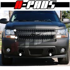 For Chevy Tahoe 2007 08 09 10 11 12 13 2014 Black Steel Wire Mesh Rivets Grille
