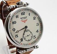 Dress WristWatch SERKISOF MARRIAGE 3602 Converted Vintage Pocket Watch 18J USSR