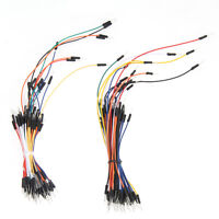 2x Male to Male Flexible Breadboard Jumper Cable Wires Kits for Ardonio 130pcs