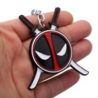DEADPOOL Logo Keychain Metal Keyring Key Ring Fob Chain Superhero Movie Pendant