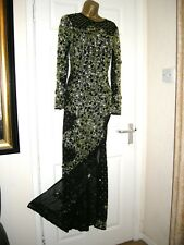 10 TALL ASOS MAXI DRESS RED CARPET MERMAID JEWEL SEQUIN EMBELLISHED WEDDING