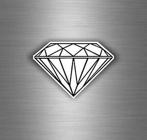 Autocollant sticker voiture moto tuning bomb diamant punk bijoux casque