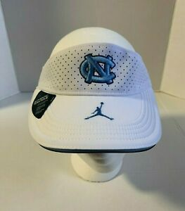 Jordan Aerobill Lightweight NC Tarheel Adjustable Embroidered Visor Hat Cap Sz S
