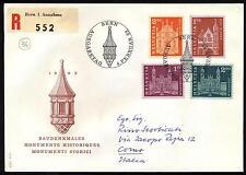Svizzera - 1963 - Edifici Storici - nn.658A/660B - Busta FDC