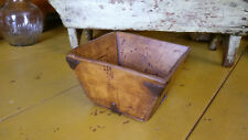 Antique Primitive Style Square Bowl 3-1/2 Inches Tall and 5-3/4 Wide