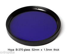 Hoya B-370 52mm x 1.5mm thick UV Ultraviolet Bandpass Dual Band IR Camera Filter
