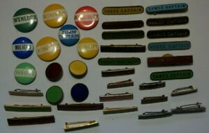 School Sports, Prefect & other badges, tin & gilt metal & enamel (37)