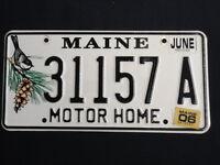 Maine 2006 Pine Cone Chickadee MOTORHOME License Plate Tag Tags 31157A