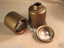 Two 1950's Pendant Spotlights with Glass Lens