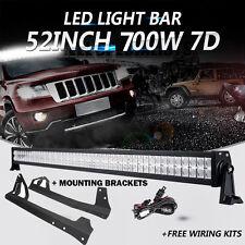 "52"" 700W CREE LED Light Bar Windshield Mount Bracket Fit 07-17 Jeep Wrangler JK"