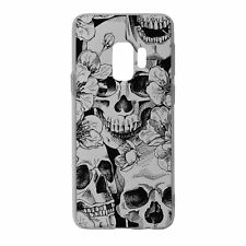 For Samsung Galaxy S9 Silicone Case Skull Pattern - S2774