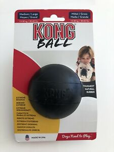 QUALITY KONG MEDIUM BLACK EXTREME BOUNCE STRONG RUBBER BALL 13-30KG NEW PACKET