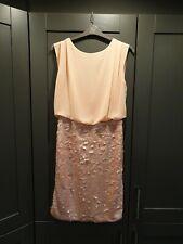 NEXT TALL Peach 2 in 1 Chiffon Top & Sequin Skirt Dress Sz UK 12 tall