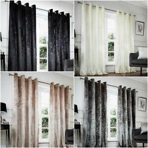 Solid Velvet NZ Eyelet Room Darkening Curtains Luxury Lavish Ready Made Ring Top