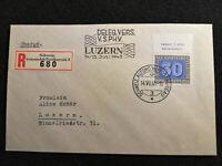 Schweiz 14.07.1945 - MiNr.450 Pax Waffenstillstand in Europa, Brief Luzern