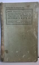 U.S. Navy Instructions For Rating Of Gunner's Mate 3c 1939 Edition