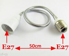 10x E27 to E27 Light Lamp Flexible Extension Adapter Converter Screw Socket 50cm